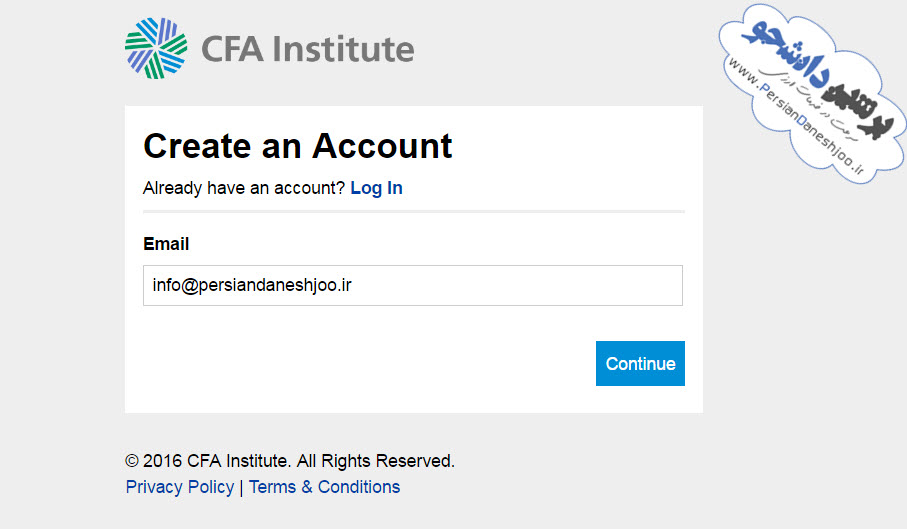 ثبت نام آزمون CFA