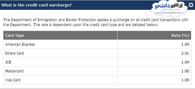 پرداخت هزینه ویزای Lodge استرالیا
